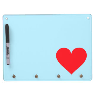 Red Heart - Love, Card Suit, Anatomy Dry Erase Board