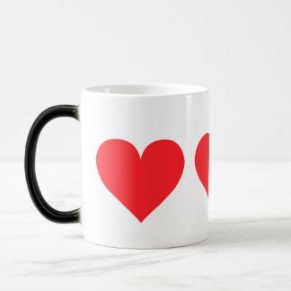 Red Heart - Love, Card Suit, Anatomy Magic Mug