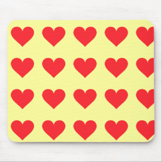 Red Heart - Love Card Suit Anatomy Mouse Pad
