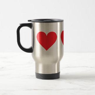 Red Heart - Love, Card Suit, Anatomy Travel Mug