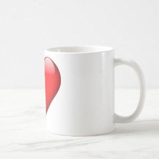 Red Heart Love Coffee Mug