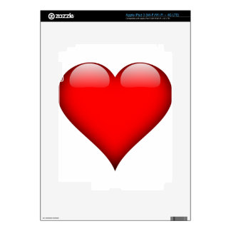 Red Heart Love Decal For iPad 3