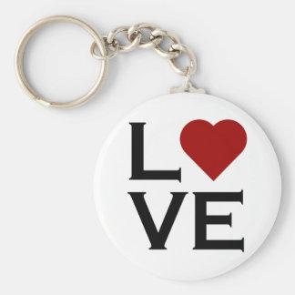 Red Heart Love Keychain