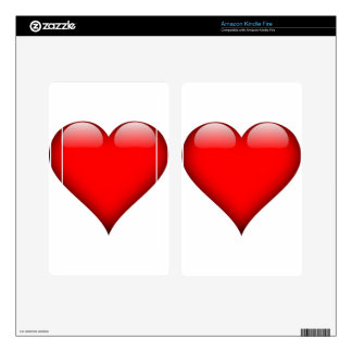Red Heart Love Kindle Fire Skin