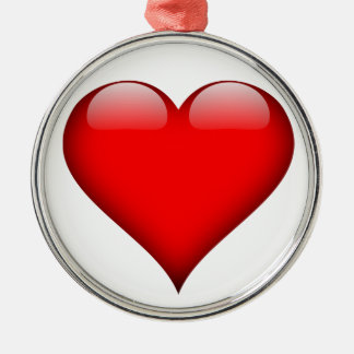 Red Heart Love Metal Ornament