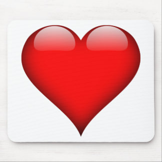 Red Heart Love Mouse Pad