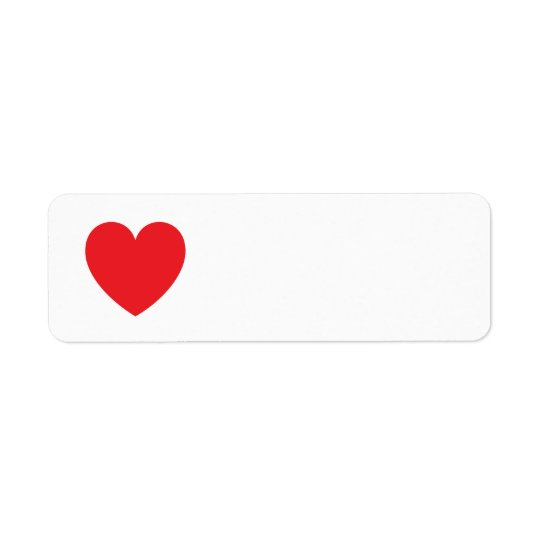 Red heart love or Valentines day Label