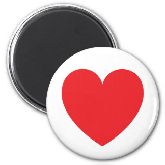 Red heart love or Valentines day Magnet