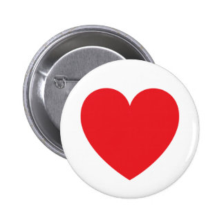 Red heart love or Valentines day Pinback Button