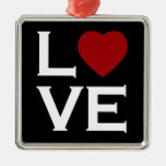 Red Heart Love Ornament