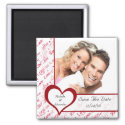 Red Heart Love Photo Save The Date Magnet magnet