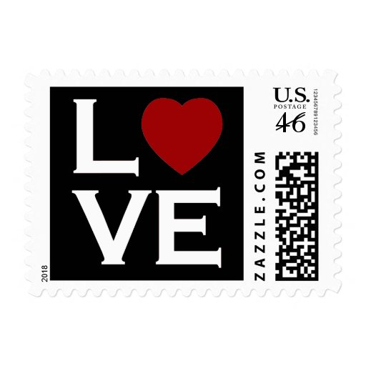 Red Heart Love Postage Stamps | Zazzle