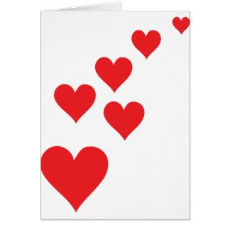 Red Heart Love Rain - Valentine�s Day Greeting Card