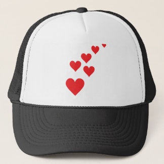 Red Heart Love Rain - Valentine�s Day Trucker Hat