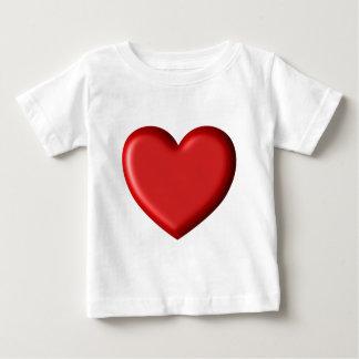 Red Heart Love  Romantic Puffy Heart 3D Baby T-Shirt