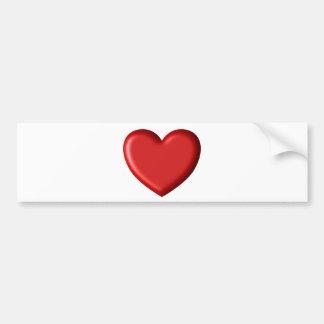 Red Heart Love  Romantic Puffy Heart 3D Bumper Sticker