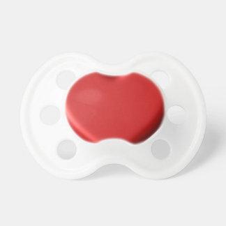 Red Heart Love  Romantic Puffy Heart 3D Pacifier