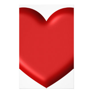 Red Heart Love  Romantic Puffy Heart 3D Stationery