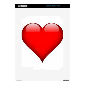 Red Heart Love Skin For iPad 2