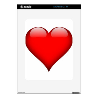 Red Heart Love Skin For The iPad
