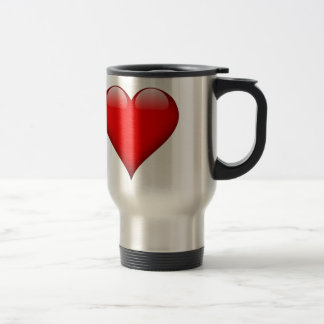 Red Heart Love Travel Mug