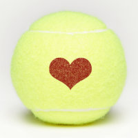 Red Heart Love Valentine Tennis Balls