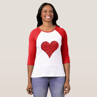 Red Heart Love Valentine's Day Woman's T-Shirt