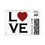 Red Heart Love Wedding stamps