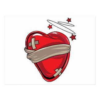 Red Heart Mending Broken Hearts Love Post Card