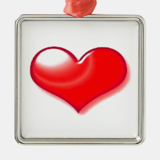 Red Heart Metal Ornament