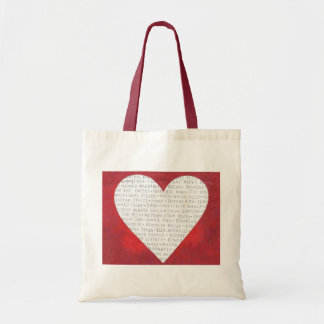 Red Heart NYC New York City Icons Love Tote Budget Tote Bag