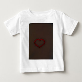 Red Heart of berries Coco brown  background Tee Shirts