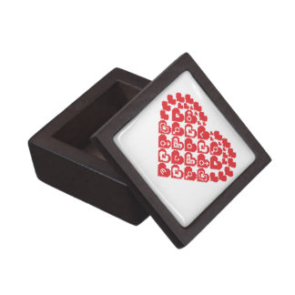 Red HEART of hearts Jewelry Box