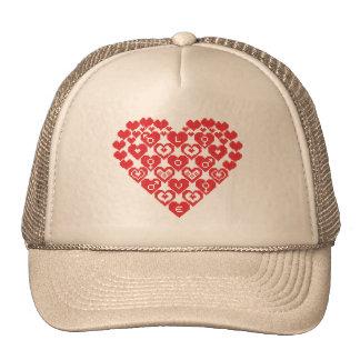 Red HEART of hearts Trucker Hat