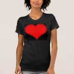 red_heart_on_black_field t shirt