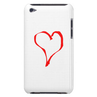 Red Heart on White. iPod Case-Mate Cases
