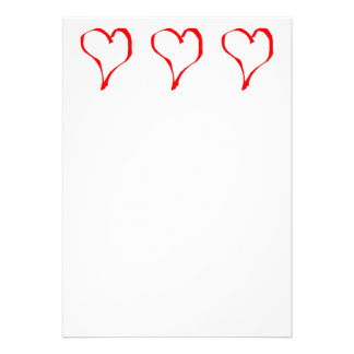 Red Heart on White Invitations