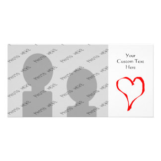 Red Heart on White. Personalized Photo Card