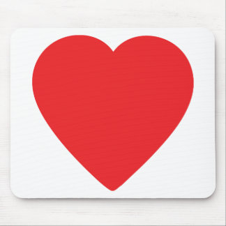 red heart one mouse pad