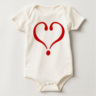 Red heart opened to the love and Day of San Baby Bodysuit