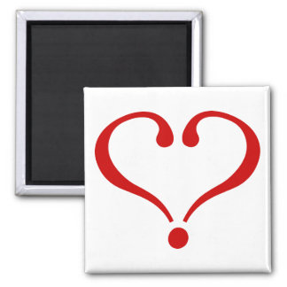 Red heart opened to the love and Day of San Valent Refrigerator Magnets