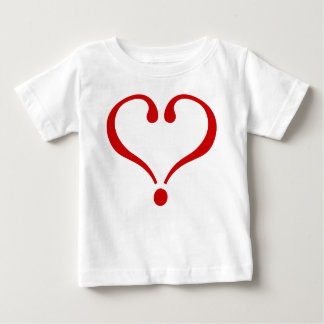 Red heart opened to the love and Day of San Valent Tees