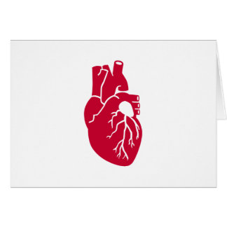 Red heart organ card