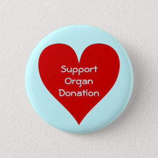 Red Heart Organ donation supporter pin