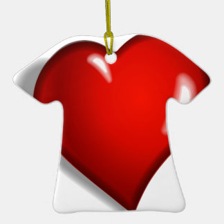 Red heart christmas ornaments