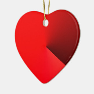 Red Heart Ornament Style Christmas Decoration