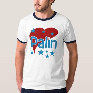 Red Heart Palin for Vice President Ringer T-shirt