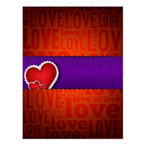 Red heart paper classic valentine s day post cards
