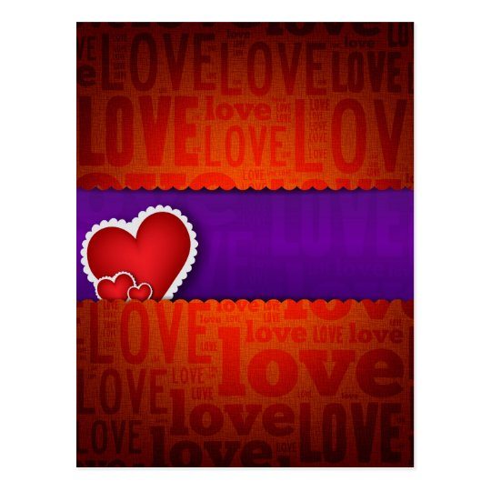 Red heart paper classic valentine s day postcard
