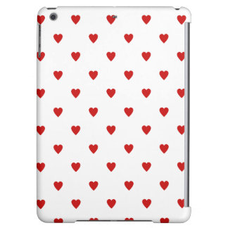 Red Heart Pattern iPad Air Covers